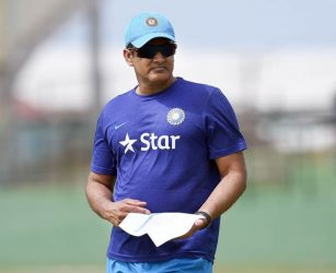 Indian cricket team head coach Anil Kumble. (Photo by JEWEL SAMAD/AFP/Getty Images)