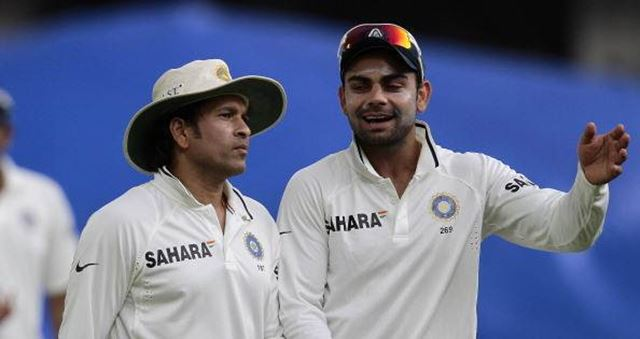 Sachin Tendulkar and Virat Kohli