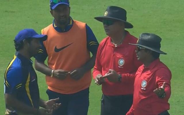 Ambati Rayudu arguing on field
