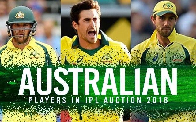 Australian players in IPL auction
