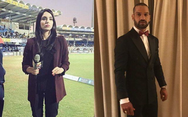 Zainab Abbas & Shikhar Dhawan
