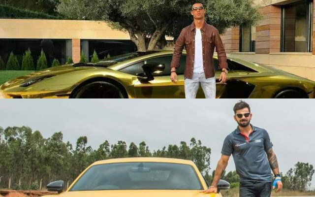 Cristiano Ronaldo and Virat Kohli