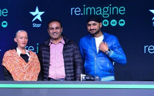 Harbhajan Singh and Virender Sehwag. (Photo Source: Twitter)