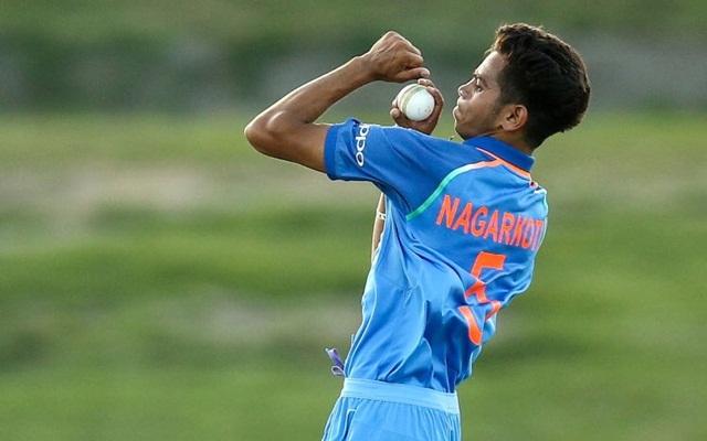 Kamlesh Nagarkoti of India U19. (Photo Source: Twitter)