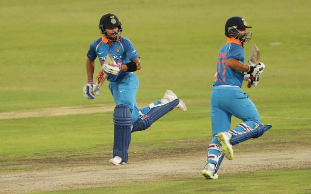 Virat Kohli and Ajinkya Rahane (Photo Source: Twitter)
