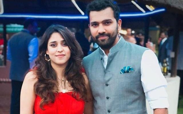 rohit sharma with wife ritika