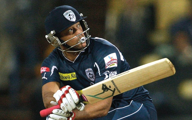Andrew Symonds of the Deccan Chargers. (Photo by Graham Crouch-IPL 2010/IPL via Getty Images)
