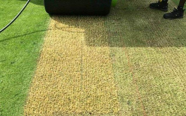 Hybrid pitch in England