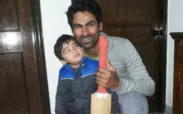 Mohammad Kaif & his son