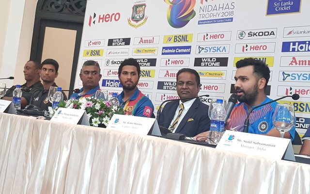 Rohit Sharma speaks in the press conference. (Photo Source: Twitter)
