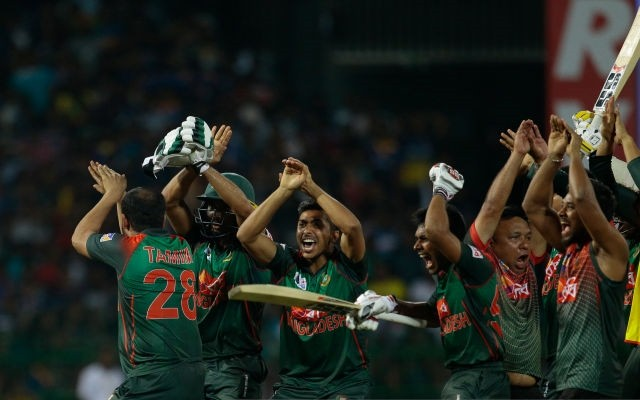 Snake celebration from the Bangladesh team after the victory over Sri Lanka. (Photo Source: Getty Images)