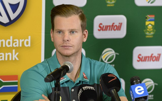 Steven Smith during Australia's press conference (Photo by Lee Warren/Gallo Images/Getty Images)