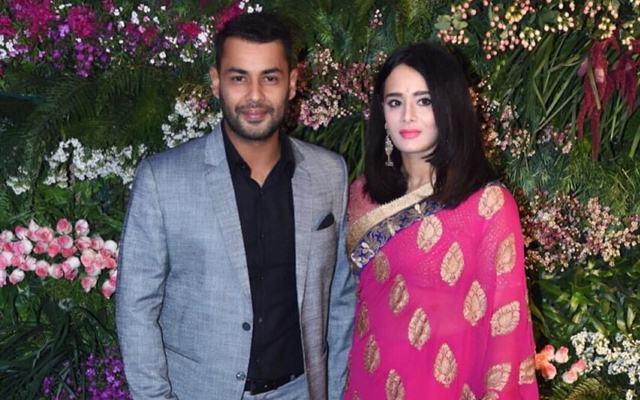 Stuart Binny & Mayanti Langer at Virat Kohli & Anushka Sharma's wedding reception. (Photo Source: Twitter)