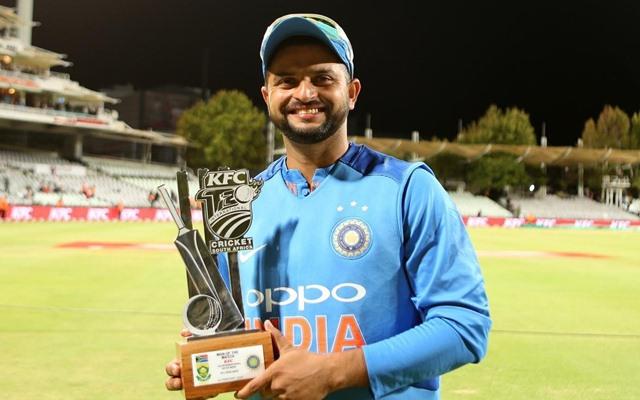 Suresh Raina received the man of the match award. (Photo Source: Twitter)