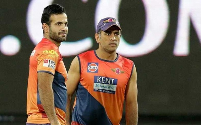MS Dhoni & Irfan Pathan. (Photo Source: Twitter)