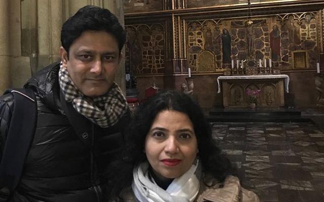 Anil Kumble & his wife. (Photo Source: Instagram)