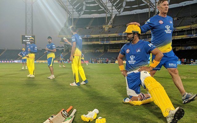 CSK practice session. (Photo Source: Twitter)