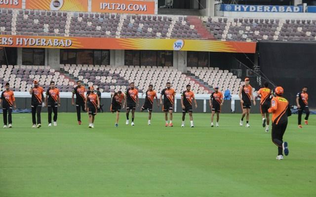Sunrisers Hyderabad team. (Photo Source: Twitter)