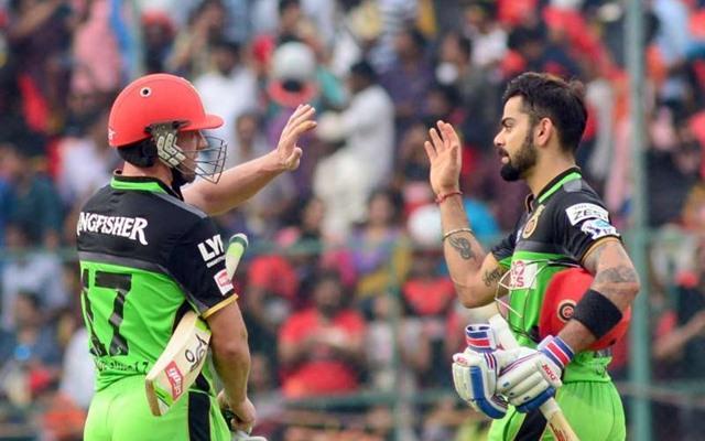 AB de Villiers & Virat Kohli. (Photo Source: Twitter)