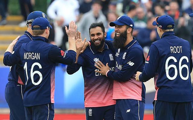 England's Adil Rashid has been added to the World XI side. (Photo by LINDSEY PARNABY/AFP/Getty Images)