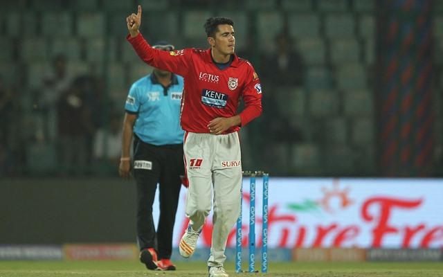 Mujeeb Ur Rahman of KXIP celebrates a wicket. (Photo Source: Twitter)