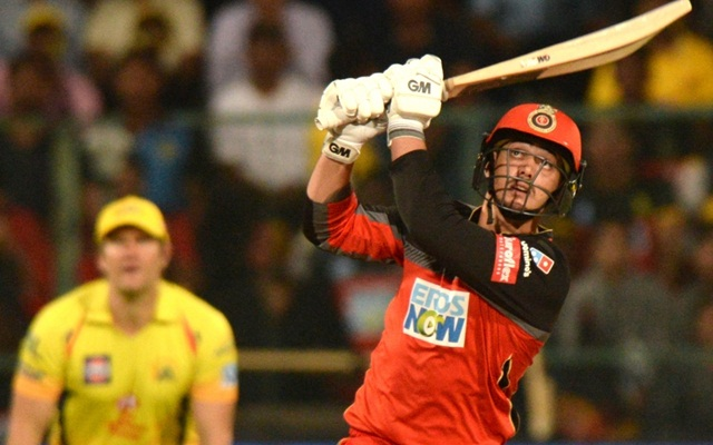 Quinton de Kock of Royal Challengers Bangalore in action. (Photo by IANS)