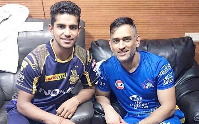 Shivam Mavi & MS Dhoni. (Photo Source: Instagram)