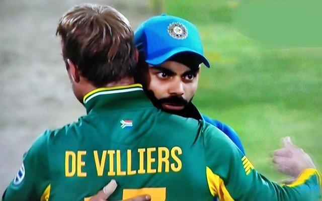Virat Kohli & AB de Villiers after the game. (Photo Source: Twitter)
