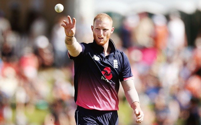 Ben Stokes of England looks on. (Photo by Anthony Au-Yeung/Getty Images)