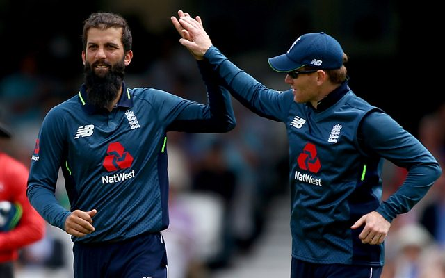 Moeen Ali of England. (Photo by Jordan Mansfield/Getty Images)