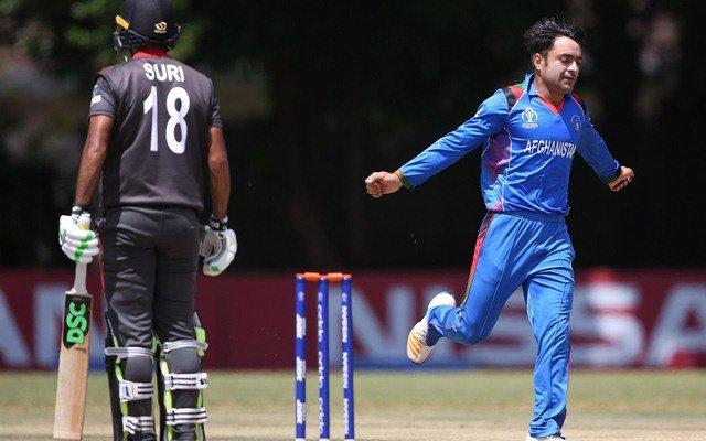 Rashid Khan celebrates a wicket. (Photo Source: ICC)