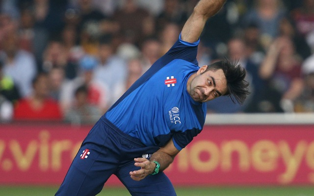 Rashid Khan of the ICC World XI. (Photo by James Chance/Getty Images)