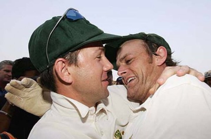 Ricky Ponting with Adam Gilchrist. (Photo Source: Andrew Flintoff Twitter)