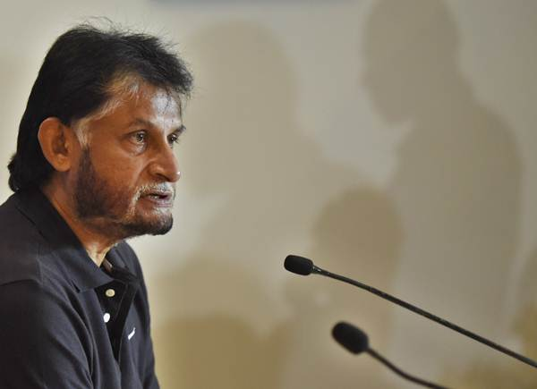 Sandeep Patil during a press conference. (Photo by Vipin Kumar/Hindustan Times via Getty Images)