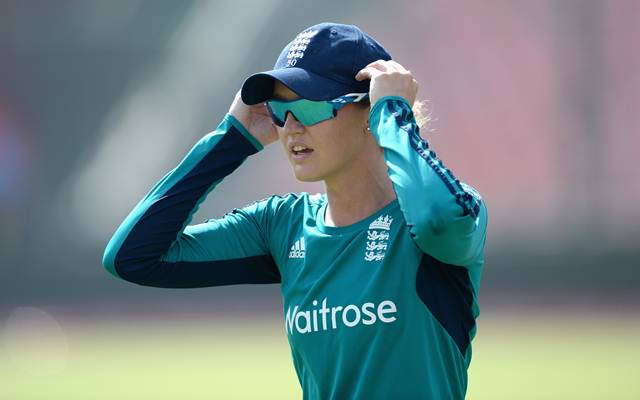 Sarah Taylor of England. (Photo by Gareth Copley/Getty Images)