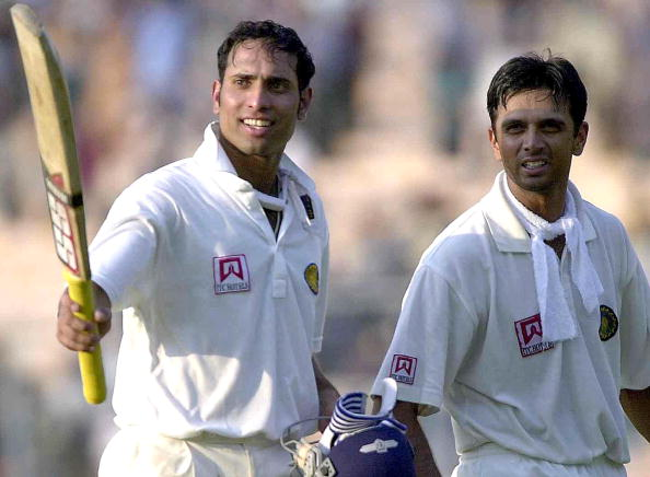 VVS Laxman and Rahul Dravid. (© ARKO DATTA/AFP/Getty Images)