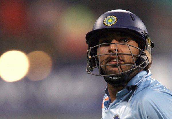 Indian cricketer Yuvraj Singh. (Photo by SAEED KHAN/AFP/Getty Images)