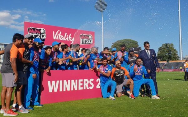 Indian team celebrates the series win. (Photo Source: Twitter)