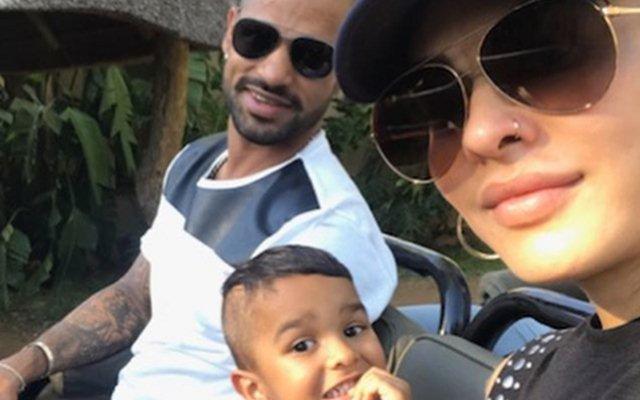 Shikhar Dhawan, Zoravar & Ayesha. (Photo Source: Instagram)