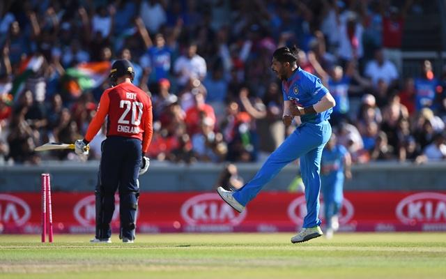 Umesh Yadav of India celebrates. (Photo by Nathan Stirk/Getty Images)