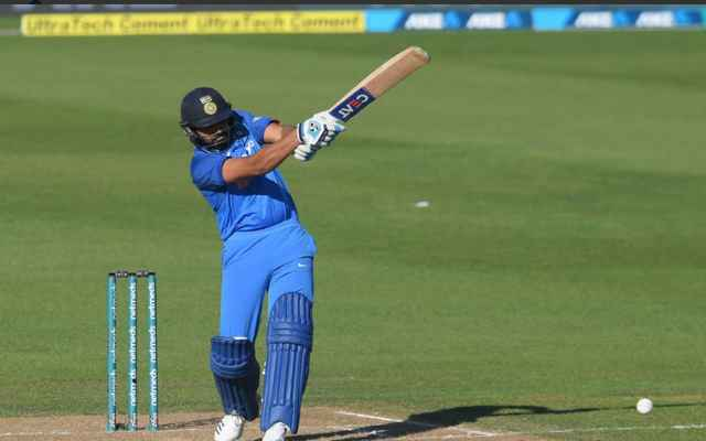 Rohit Sharma in second ODI against NZ (Image source Twitter)