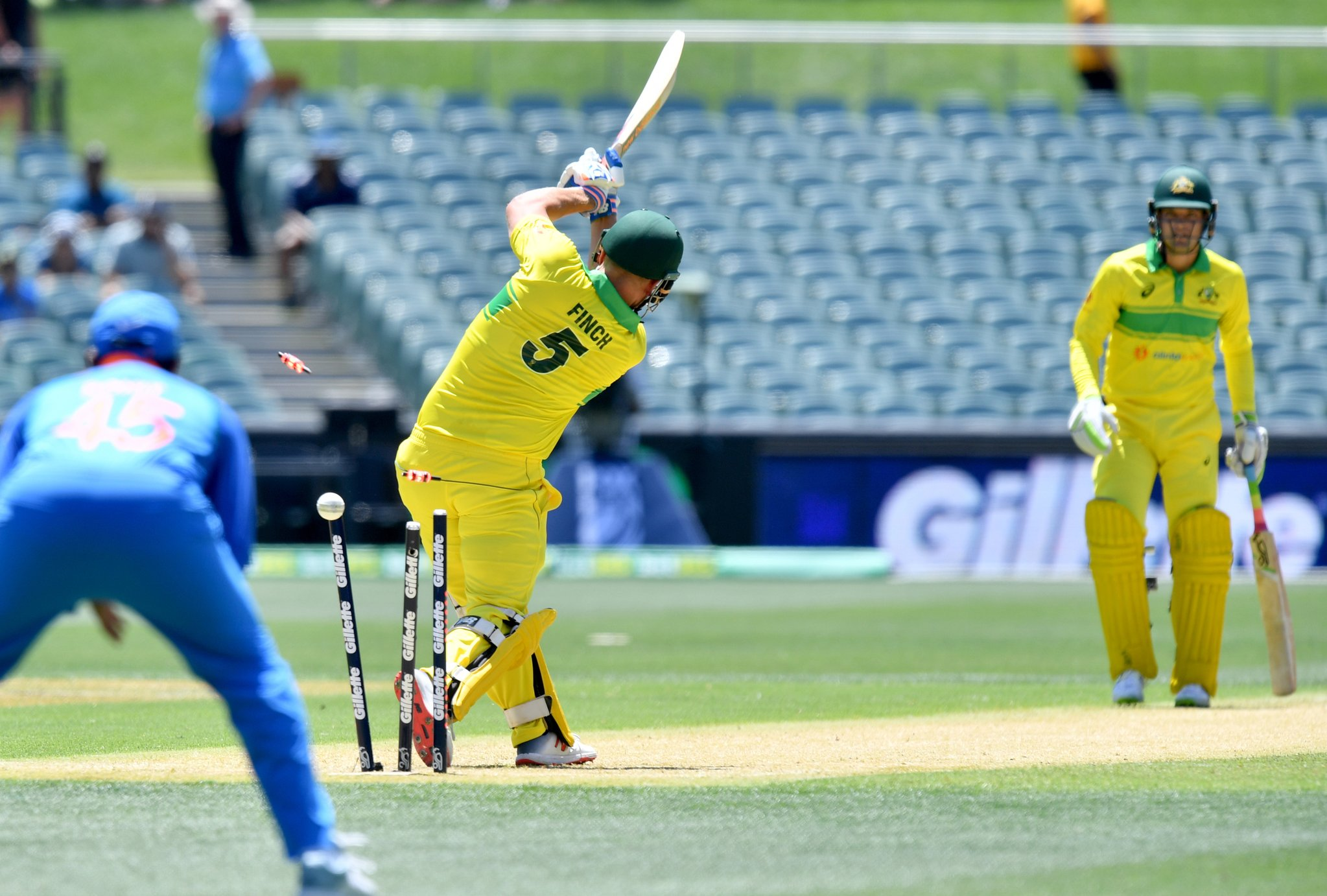 Aron finch wicket( image source: Twitter Handle)