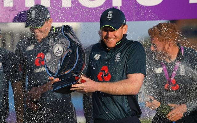 England captain Eoin Morgan. (Photo by Stu Forster/Getty Images)
