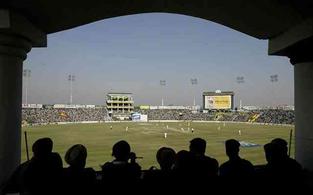 A general view of play at the PCA Mohali Stadium. (Photo by Laurence Griffiths/ALLSPORT)