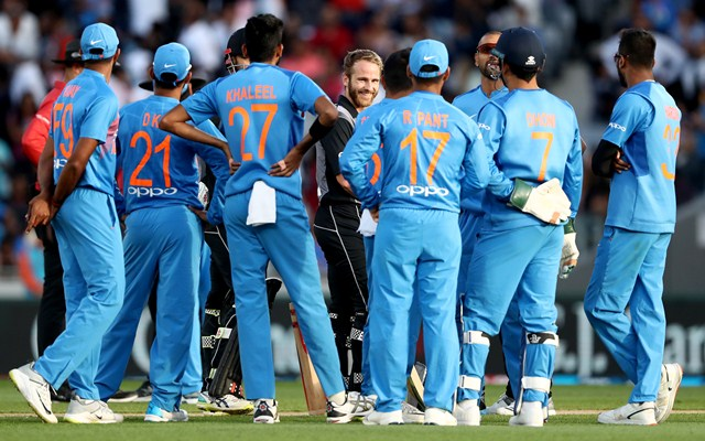 New Zealand vs India. (Photo by Hannah Peters/Getty Images)