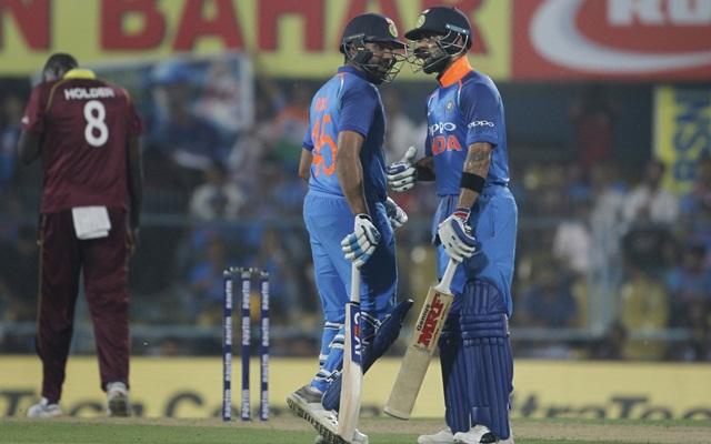 Rohit Sharma and Virat Kohli. (Photo Source: Twitter)