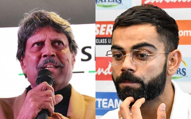 Kapil Dev and Virat Kohli