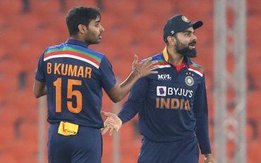 Bhuvneshwar Kumar and Virat Kohli