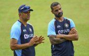 Rahul Dravid and Shikhar Dhawan. (Photo Source: Twitter/Sri Lanka cricket)