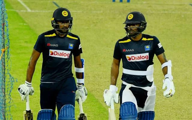 Sri Lanka players in practice session. (Photo Source: Twitter/Sri Lanka Cricket)